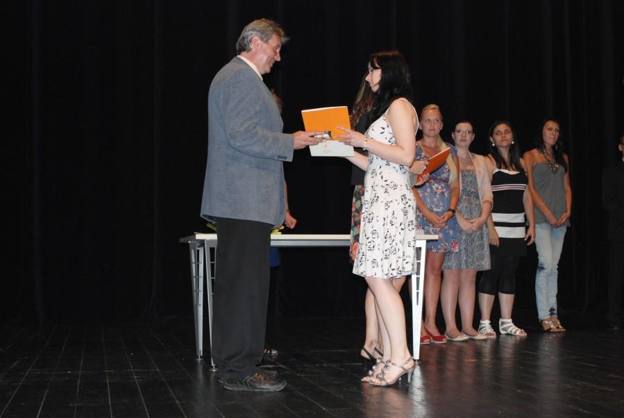 Slavnostní předávání maturitních vysvědčení 2012