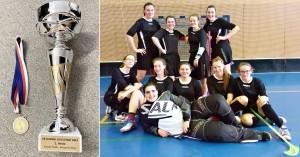 Florbal - D - kraj - vítězství s pohárem 01-2019