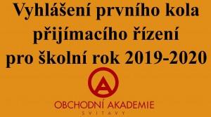 Vyhlášení PŘ - OA 2019