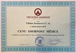 Osobnost - 02-2019 - certifikát - Jermar